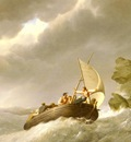 Koekkkoek Johannes Hermanus Sailing The Stormy Seas