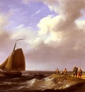 Koekkoek Johannes Hermanus A fresh Breeze Off The Dutch Coast