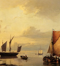 Koekkoek Johannes Hermanus Barend Shipping In A Calm