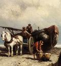 Koekkoek Johannes Hermanus Unloading The Catch