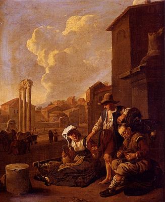 Lingelbach Johannes Peasant Family Having Bread And Wine