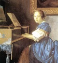 Vermeer Lady Seated at a Virginal detail1