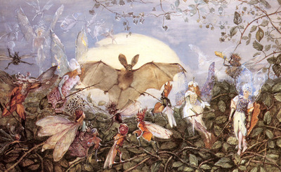 Fitzgerald John Anster Fairy Hordes Attacking A Bat
