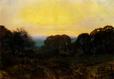 Grimshaw John Atkinson Twilight The Vegetable Garden