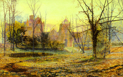 Grimshaw John Atlkinson Evening Knostrop Old Hall