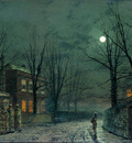 Grimshaw Atkinson The Old Hall Under Moonlight