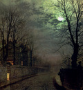 Grimshaw John Atkinson A Lane In Headingley Leeds