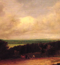 Landscape ploughing scene in Suffolk