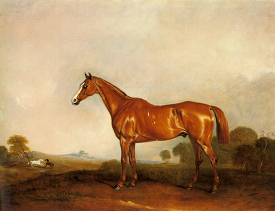Ferneley Sr John E A Chestnut Hunter In A Landscape