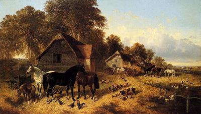 Herring John Frederick A Flourishing Farmyard