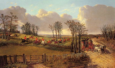 Herring Sr John Frederick A Hunting Scene With A Coach And Four On The Open Road