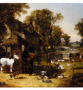 Herring John Frederick An English Farmyard Idyll