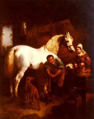 Herring John Frederick The Village Blacksmith