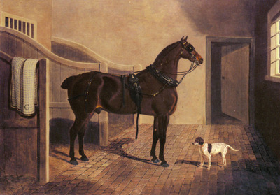 Herring Snr John Frederick A Favorite Coach Horse And Dog In A Stable