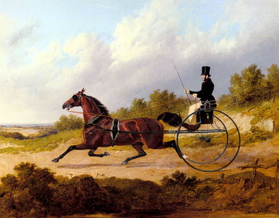 Herring Snr John Frederick The Famous Trotter Confidence Drawing A Gig