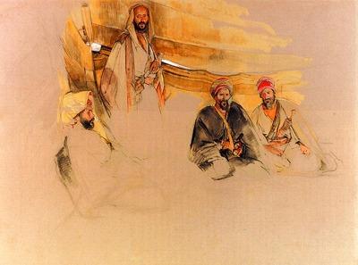 Lewis John Frederick A Bedouin Encampment Mount Sinai