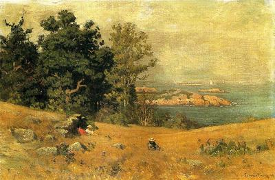 Enneking John Joseph Berrying at the Seashore