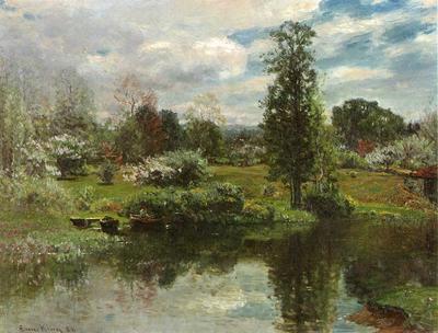Enneking John Joseph Summer on the Lake