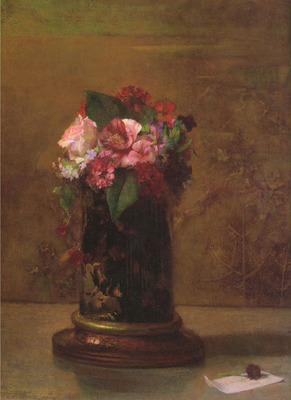 Flowers in Japanese Vase