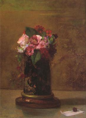 Flowers in Japanese Vase
