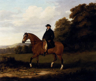 Sartorius John Nost A Gentleman And His Bay Hack
