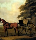 Sartorius John Nost A Horse And Carriage In A Landscape