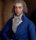 Russell John Portrait Of A Gentleman Half Length In A Blue Coat