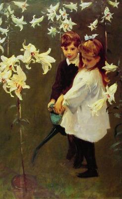 Garden Study of the Vickers Children