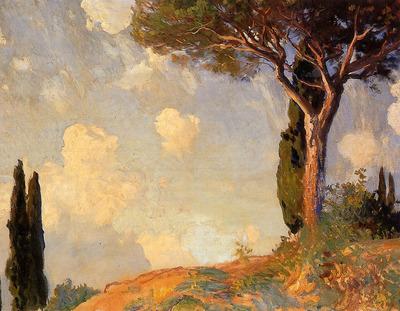 Sargent John Singer A Landscape Study at San Vigilio Lake of Garda