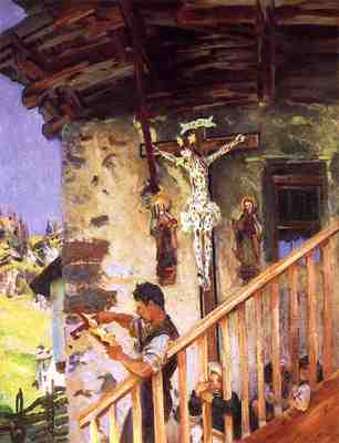Sargent John Singer A Tyrolese Crucifix
