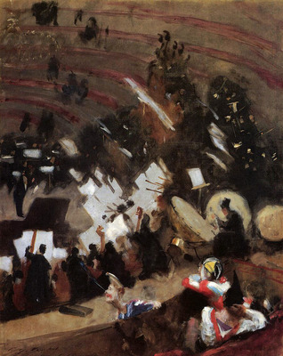 Sargent John Singer Rehearsal of the Pas de Loup Orchestra at the Cirque d Hiver
