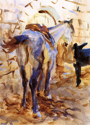 Sargent John Singer Saddle Horse Palestine