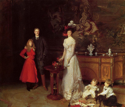 Sargent John Singer Sir George Sitwell Lady Ida Sitwell and Family