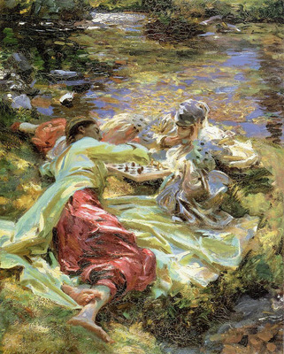 Sargent John Singer The Chess Game