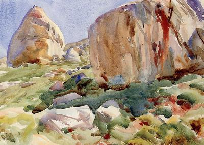 Sargent John Singer The Simplon Large Rocks