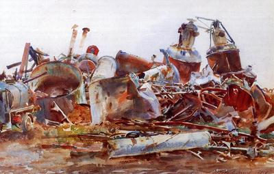 Sargent John Singer The Wrecked Sugar Refinery