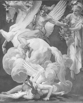Sargent Perseus on Pegasus Slaying Medusa