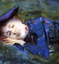 Sargent John Singer Violet Resting on the Grass