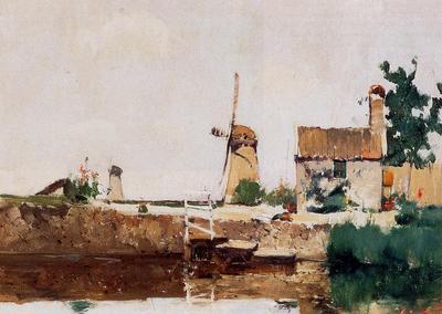 Twachtman John Windmills Dordrecht