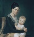 Vanderlyn John Mrs Marinus Willet And Her Son Marinus Jr