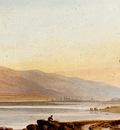 varley John Figures And Sheep On The Shore Of Lake Geneva
