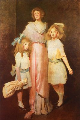 Alexander John White Mrs  Daniels with Two Children