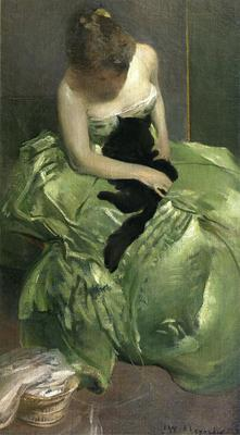 Alexander John White The Green Dress
