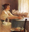 Alexander John White A Meadow Flower