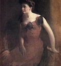 Alexander John White Woman in a Red Dress