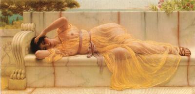 girl in yellow drapery