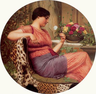 godward john w the time of roses