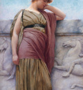 godward leaning on the balcony