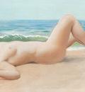 godward nu sur la plage