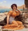 Godward With Violets Wreathed and Robe of Saffron Hue